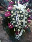 Wiązanka anturium róże i tulipany