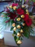 Wiązanka róża gerbera i lilia