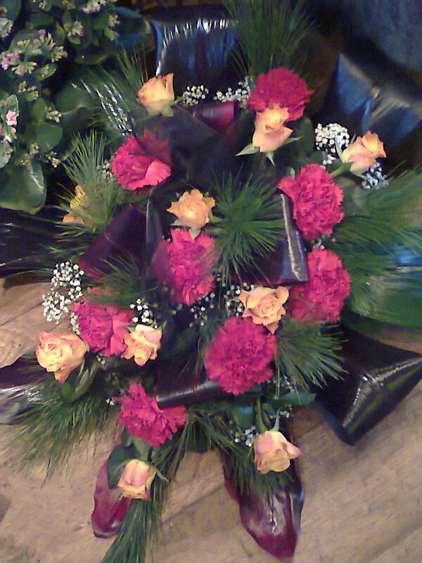 Wiązanka róża i goździk