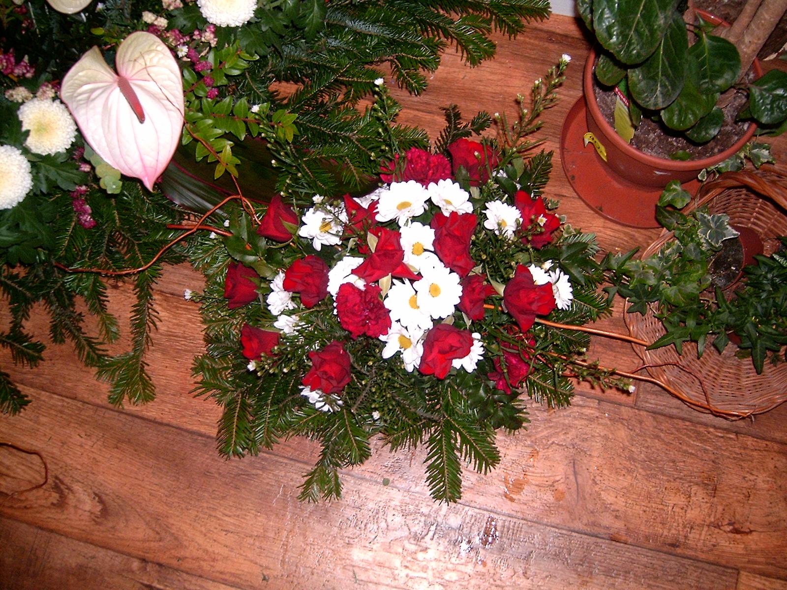 Wiązanka róża i margaretka