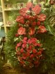 Wieniec anturium róża gerbera goździk