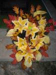 Wiązanka sztuczna lilia żółta