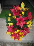 Wiązanka sztuczna lilia czerwona