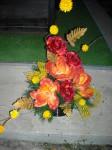 Wiązanka sztuczna magnolia i róża