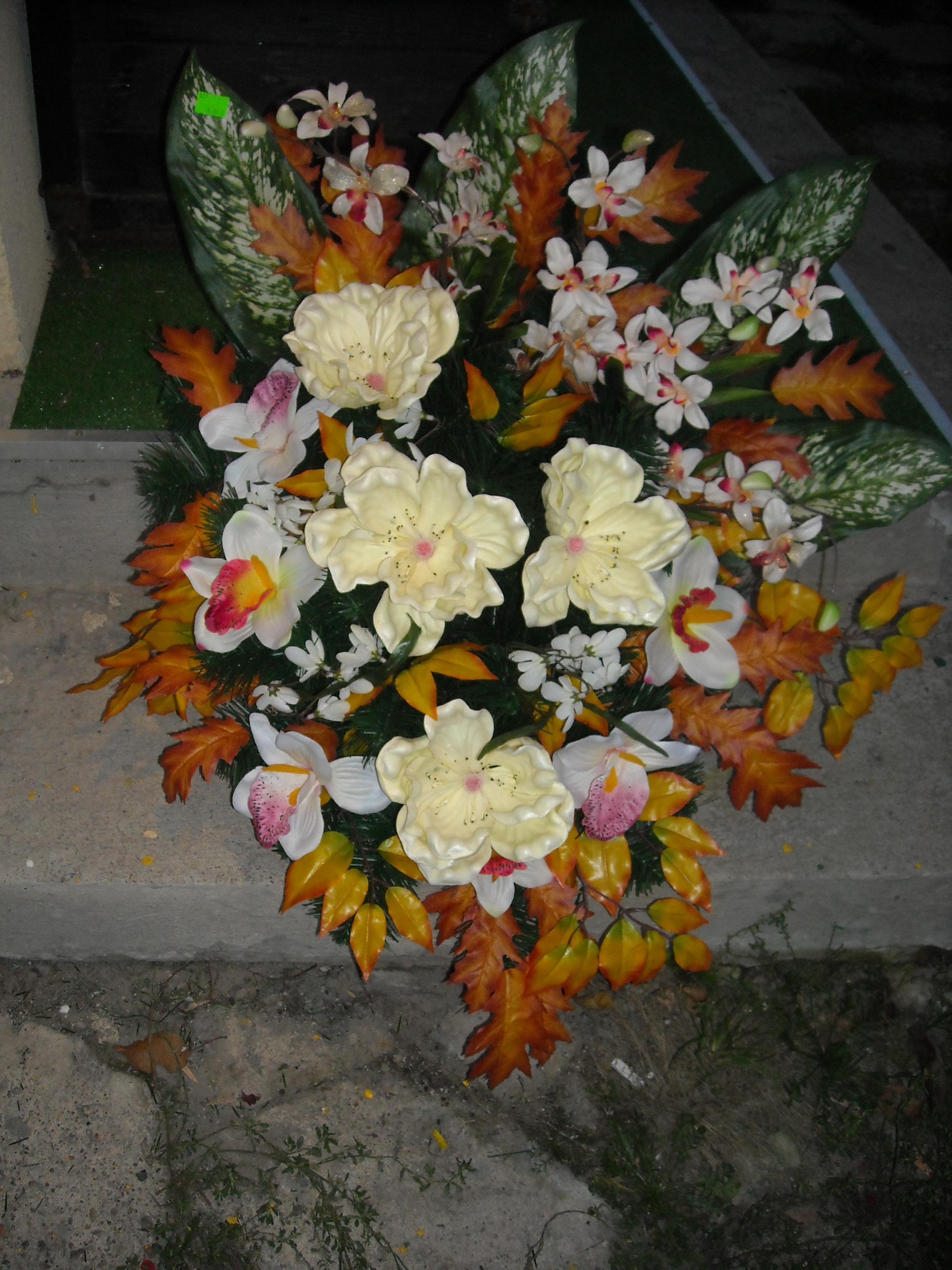 Wiązanka sztuczna magnolia i storczyk